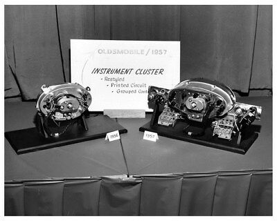 1956 & 1957 Oldsmobile Instrument Display Factory Photo ca3945