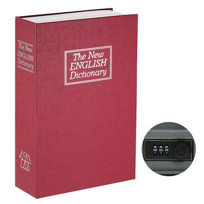 Security Hidden Safe Box with Combination Lock English Dictionary Diversion H5N1
