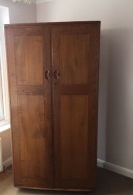 Ercol Windsor large double wardrobe mid century retro