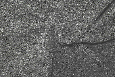 BLACK /& GREY BOUCLE DELUXE WOOL CASHMERE CHUNKY WOVEN PILE  MADE IN ITALY D209
