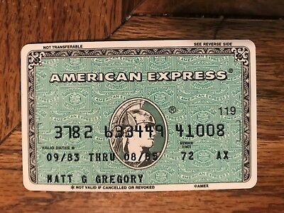 American Express Expired Credit Card Matt Gregory Producer Signed 1983-1985
