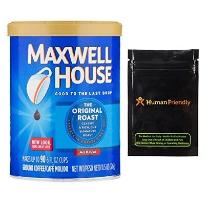 Maxwell Coffee Diversion Secret Safe Stash Can + Human-Friendly Smell-Proof Bag