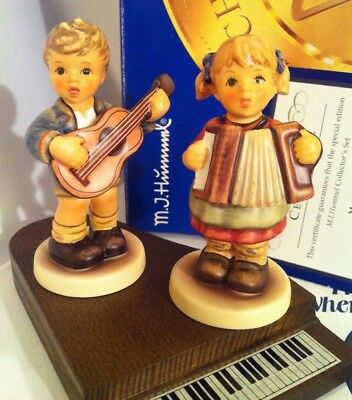 RARE • ONLY 7,500 MADE KIDS ON PIANO • COA BOX Hummel Goebel Porcelain Figurine
