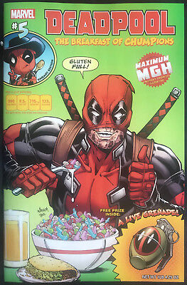Marvel Deadpool #5 Breakfast Cereal NYCC Variant Cover