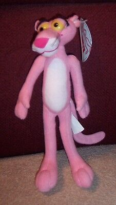 "Retired 2002  Owens Corning The Pink Panther Plush 9"" Stuffed Animal & Hangtag"