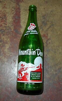 Rare 28 Oz Mountain Dew Hill Billy Hillbilly Soda Bottle Canadian Version