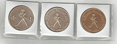 3 Johnnie Walker Red Label Scotch Whiskey New Orleans Mardi Gras Coins Tokens