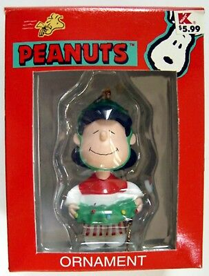 Peanuts Snoopy LUCY w/ WREATH CHRISTMAS ORNAMENT from KURT ADLER MIB - REDUCED!!