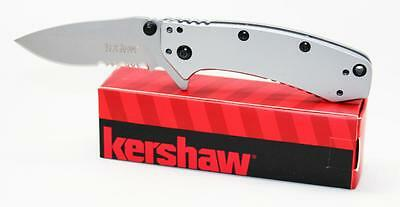 Kershaw Cryo Hinderer Folder Knife Combo Edge Assisted Opening 1555ST