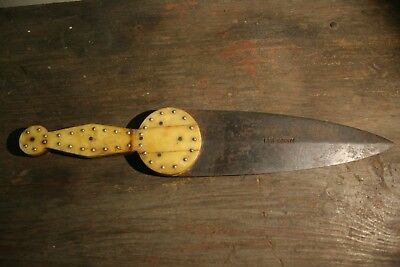 Antique Native American Dag Knife Old Plains Indian Primitive Dagger Trade Bowie