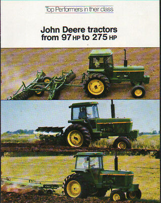 John Deere 97 to 275hp Tractors, Magazine Suppliment Brochure