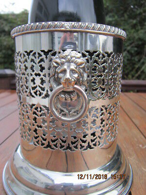 Vintage Silver Plate Wine Champagne Bottle Holder Coaster REDUCED TO CLEAR