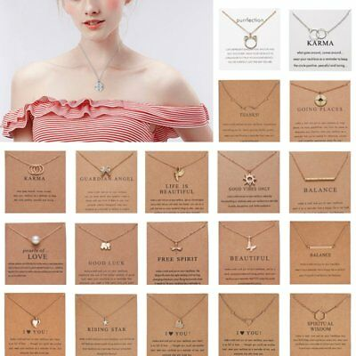 Women Fashion Necklace Pendant Gold Clavicle Chains Choker Card Jewelry Gift Hot