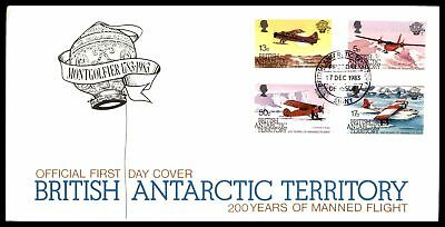 British Antarctic Territory Manned Flight 200 Years Combination 1983 Unsealed Fd