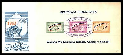 Freedom From Hunger Souvenir Sheet Imperf Dominican Republic 1963 Cg Junior Iii