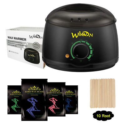 Wax Warmer Electric Hair Removal Waxing Kit 4 Packs of Hard Wax Beans & 10 Stick