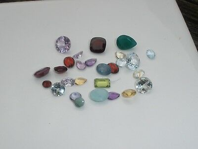 Natural Gemstone Mixed Faceted Loose Parcel Lot 24 Total Carats