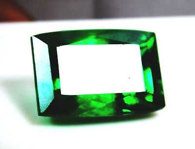 Untreated Natural 17.10 Cts Emerald Cut Green Topaz Loose Gemstone