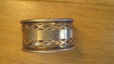 Vintage Pierced Silver Plated Napkin Ring