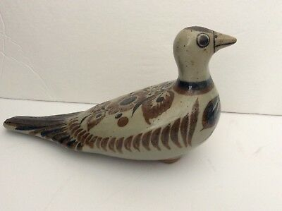 "VINTAGE SIGNED JORGE WILMOT MEXICAN POTTERY BIRD 8-1/2"" long"