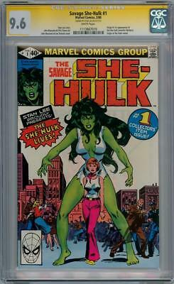 Savage She-Hulk #1 Cgc 9.6 Signature Series Stan Lee Origin App Marvel Comics