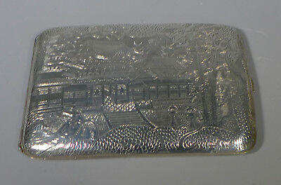 Fine Antique Hallmarked Chinese Silver Embossed/engraved Cigarette Case