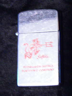 Soffel Pittsburgh PA Metals Purifying Co. Zippo Slimline Lighter Devil