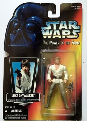 Star Wars POTF Red Card ~ LUKE SKYWALKER with Lightsaber~ 1995 Figure ~ Unopened