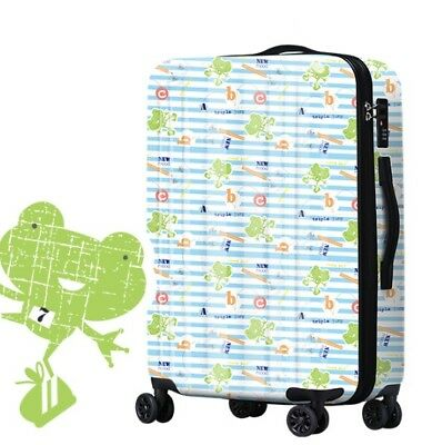 A818 Lock Universal Wheel Cartoon Frogs Travel Suitcase Luggage 20 Inches W