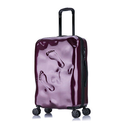 A933 Purple Coded Lock Universal Wheel Travel Suitcase Luggage 20 Inches W