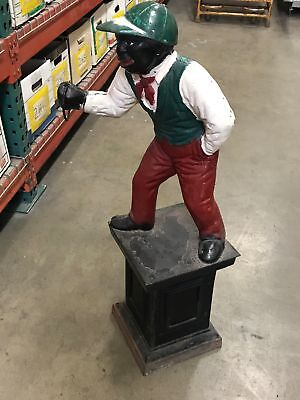 "Vintage Cast Iron Large Lawn Jockey 37"" H Local P/U Anaheim CA (100)"