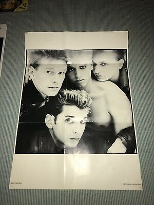 Rare Official Mute Records Vintage Depeche Mode Fan Club Poster