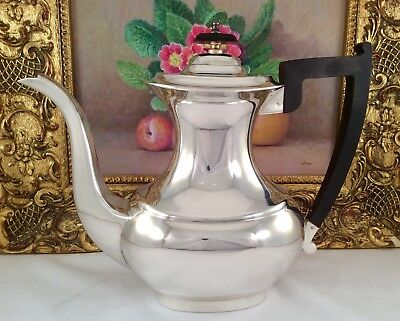 Large Vintage VINERS Of Sheffield Georgian Style Silver Plated Coffee Pot C1930