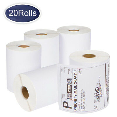 """20 Rolls DYMO 4XL Thermal Shipping Labels 4""""x6"""" 1744907 Compatible - 220/Roll"""
