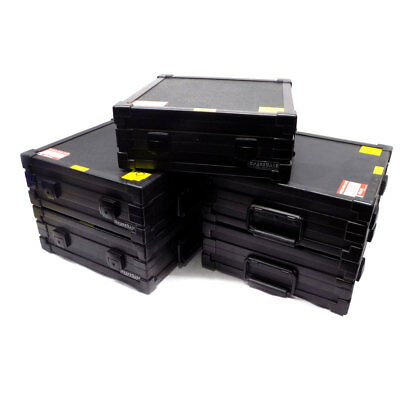 "(Lot of 5) Melmat ADV024SC-1 SpaceCase Black 14"" x 14"" x 5"" Depth Storage Case"
