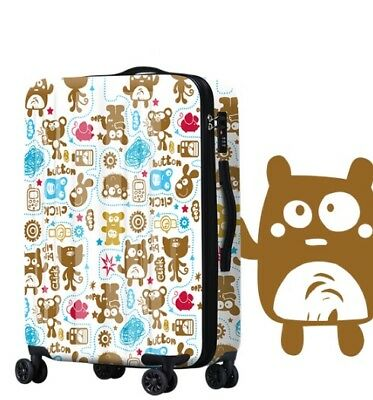 A768 Lock Universal Wheel Cartoon Travel Suitcase Cabin Luggage 24 Inches W