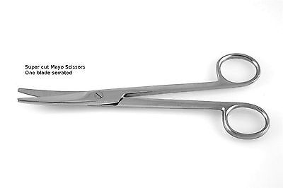 """2 Super Cut Mayo Scissors 5.5"""" Straight + Curved NEW Surgical Instruments"""