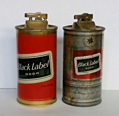 2 Diff - Carling Black Label Beer Can Lighters - Belleville, Illinois