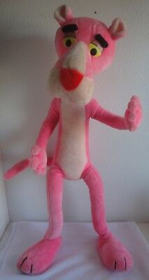 """Pink Panther Plush Stuffed Animal 1980 United Artists Mighty Star Large 40"""" Tall"""
