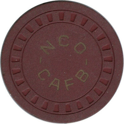 Columbus AFB NCO Club -  $5.00 Chip (Red Clay)