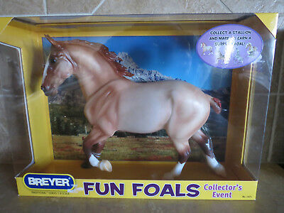 NIB Breyer draft horse 1371 fun foals collectors event Wixom red roan mare 2009
