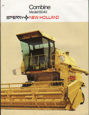 "New Holland ""Model 8040"" Combine Brochure Leaflet"