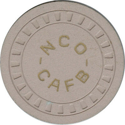 Columbus AFB NCO Club -  25c Chip (White Clay)