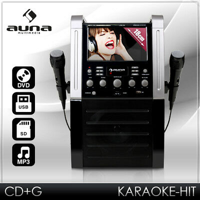 "[B-WARE] KARAOKE PARTY MUSIK ANLAGE 7"" DISPLAY DVD MP3 PLAYER USB SD RECORD 2x"