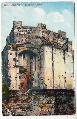 GIBRALTAR - Moorish Castle - Edwardian 1911 used postcard posted locally