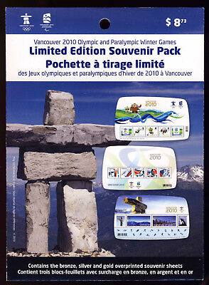 Canada 50 2010 OLYMPIC Vancouver OVPR S/S MNH #2299f 2305f 2366c UNOPENED PACKAG
