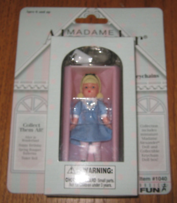 Miniature Madame Alexander Doll Keychain 'alice In Wonderland' New In Orig Pkg