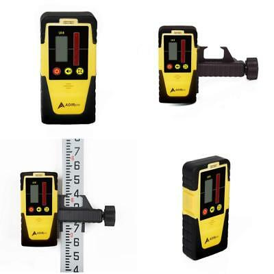 Universal Rotary Laser Receiver Detector With Rod Clamp Dual Sided Lcd Display