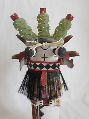 "Gorgeous Old Style Hopi Indian ""cactus"" Kachina By Award Winner Anthony Monongye"