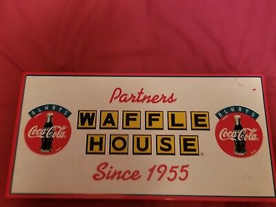 Coca-Cola Advertisement Sign *Waffle House*